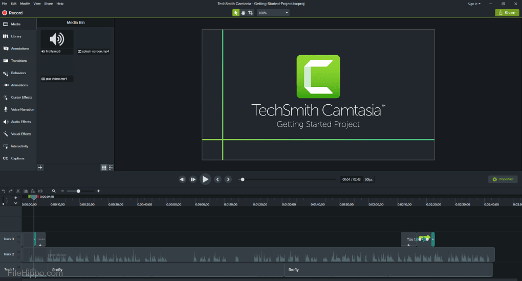 Camtasia   Download (Free trial) -