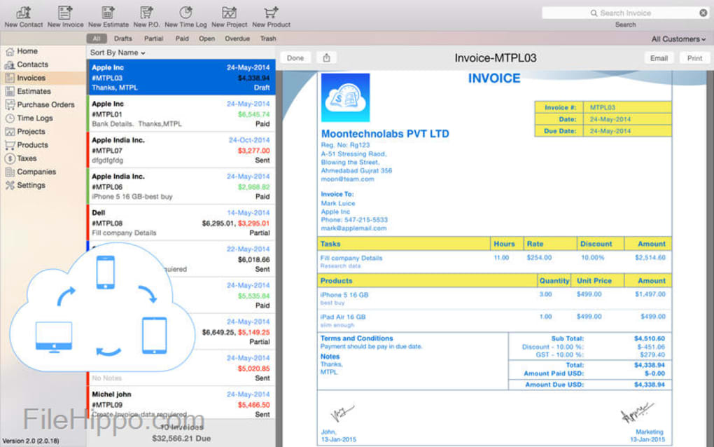 download moon invoice for mac 2 2 1 for mac