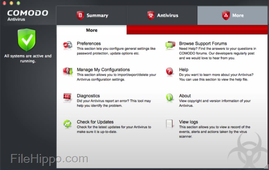 Comodo antivirus for mac free