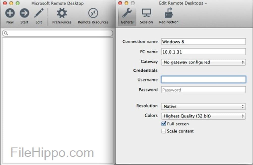 Remote desktop client for mac