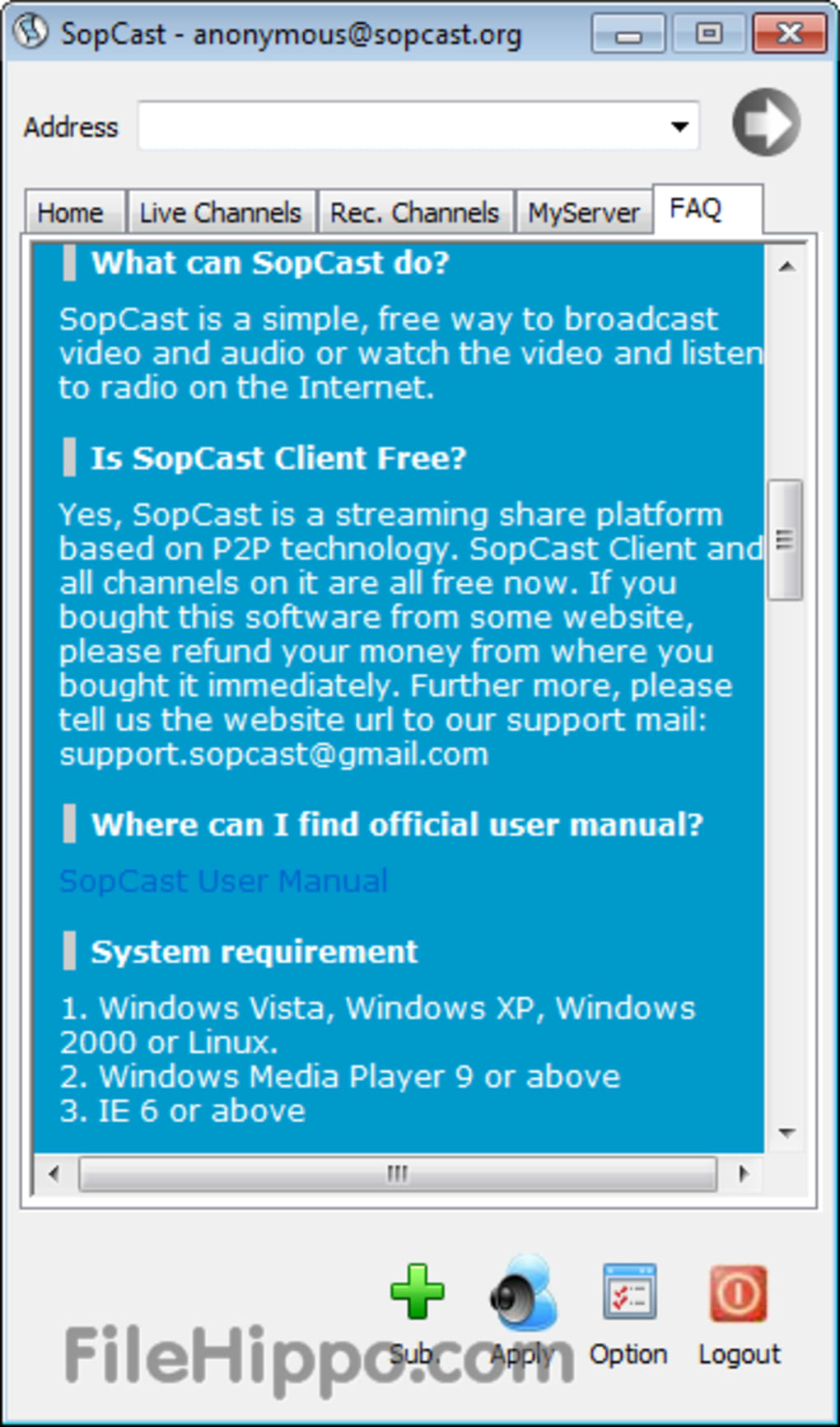 Sopcast Download Free Windows 7 32Bit - easterncrime