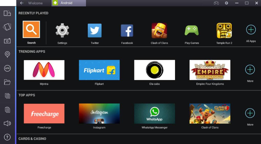 BlueStacks Apk App Player for PC Windows 1