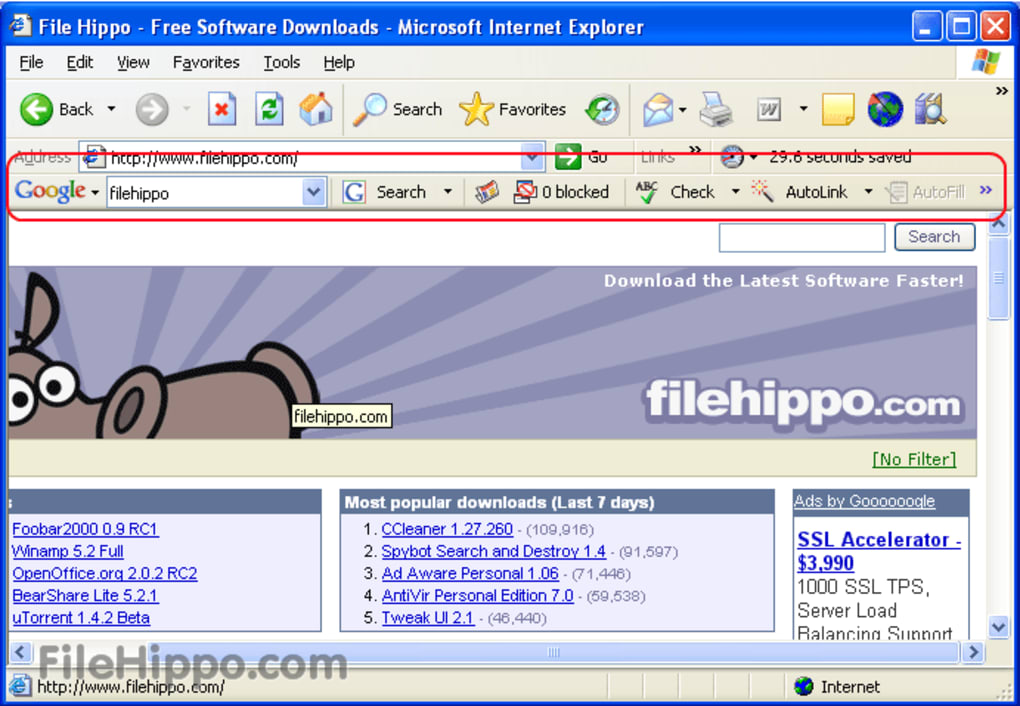 Download Google Toolbar (IE) 7.5.4209.2358 For Windows