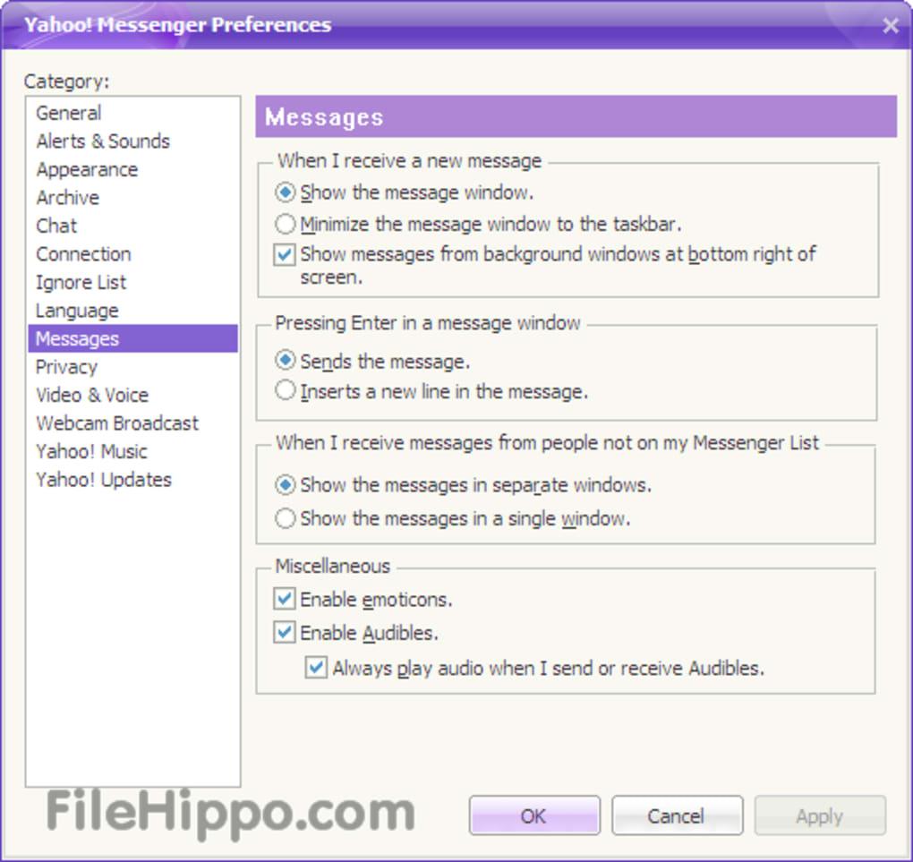 下载 Yahoo! Messenger 11.5.0.228 Windows 版 - Filehippo.com