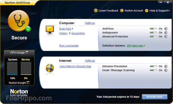 Descargar Norton Antivirus 21 3 0 12 Para Windows Filehippo Com
