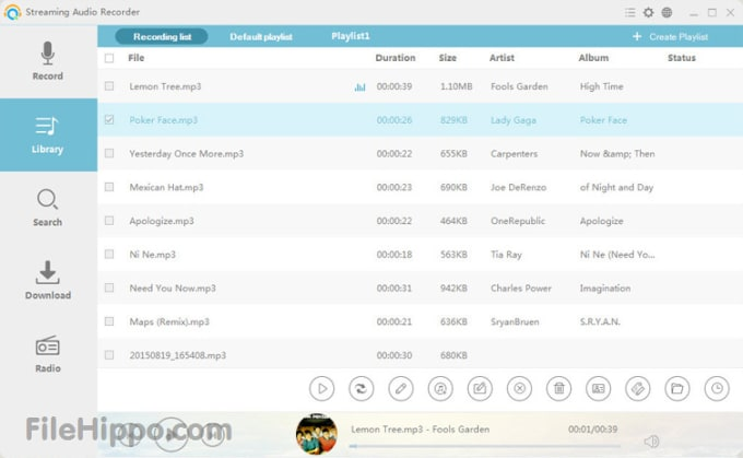 Download Apowersoft Streaming Audio Recorder 4.3.4.0 for Windows -  Filehippo.com