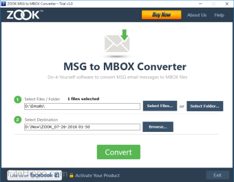 ZOOK MSG to MBOX Converter