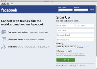 Facebook 4 Mac