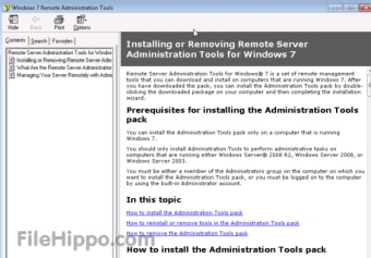 Remote Server Administration Tools for Windows 7 with Service Pack 1