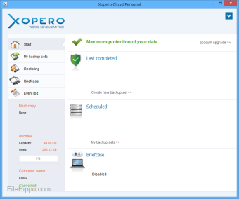 Xopero Cloud Personal
