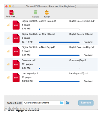 Cisdem PDFPasswordRemover for Mac Lite