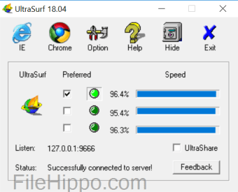 Download UltraSurf 19 02 for Windows - Filehippo com