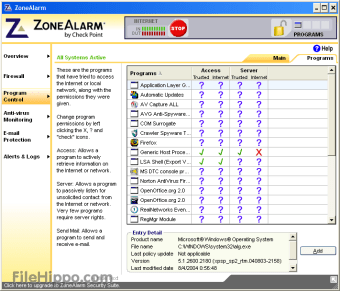 update zone alarm extreme security license key