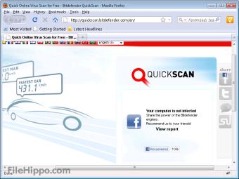 Download Bitdefender QuickScan Scanner for Web Apps