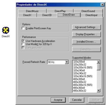 DirectX 8 Control Panel