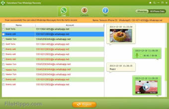 Download Free WhatsApp Recovery 2 6 for Windows - Filehippo com