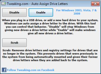Tweakingcom Auto Assign Drive Letters