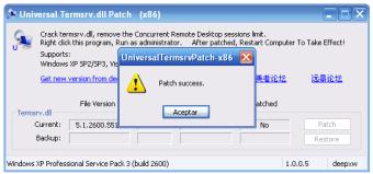 Universal Termsrv.dll Patch
