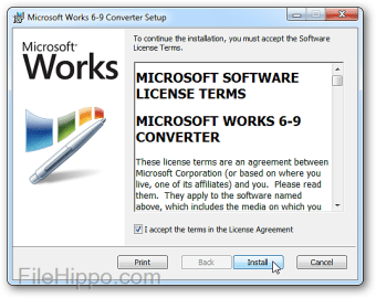 Microsoft Works 6–9 File Converter