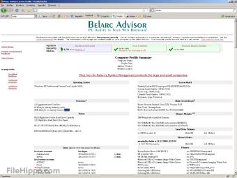 Download Belarc Advisor 9 0 for Windows - Filehippo com
