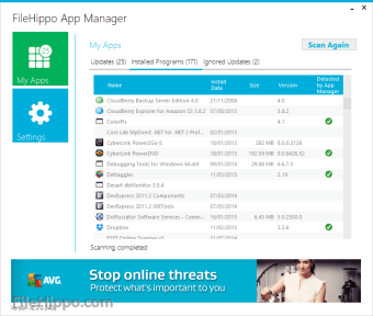 Download FileHippo App Manager 2 0 Beta 4 for Windows