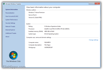 Download Ultimate Windows Tweaker 4 5 for Windows