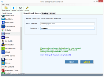 ZOOK Email Backup Wizard