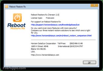 Download Reboot Restore Rx 2 1 for Windows - Filehippo com