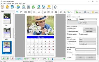 AMS Photo Calendar Creator