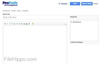ProProfs Knowledgebase