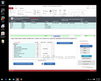 HR Access Database Software