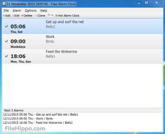 Download Free Alarm Clock 4 0 1 for Windows - Filehippo com