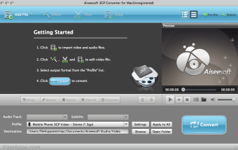Aiseesoft Free 3GP Converter for Mac
