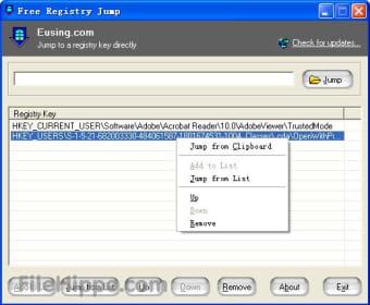 Eusing Free Registry Jump
