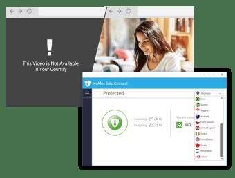 McAfee Safe Connect VPN