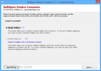 Zimbra TGZ to PST Converter