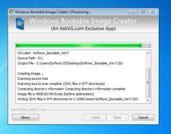 Windows Bootable Image Creator
