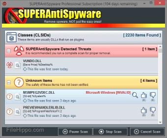 SUPERAntiSpyware Professional Edition