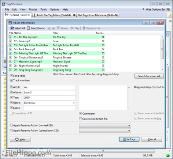 Download Tag&Rename 3 9 15 for Windows - Filehippo com