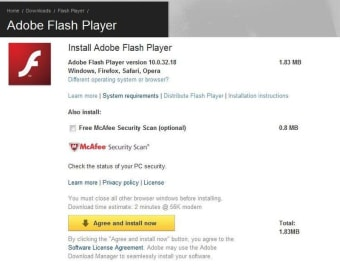 Adobe Flash Player (for IE)