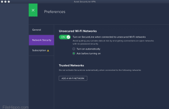 Avast SecureLine VPN for Mac