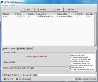 MP3 to OGG Converter