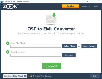 ZOOK OST to EML Converter