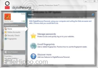 HP DigitalPersona Fingerprint Reader Software