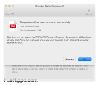 Download Cisdem PDFPasswordRemover for Mac 3 6 0 for Mac