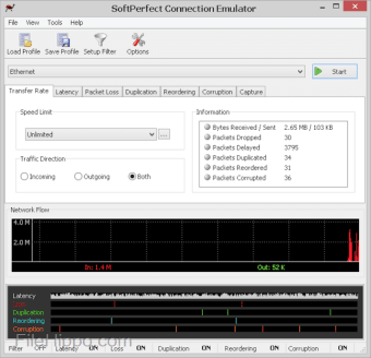 SoftPerfect Connection Emulator